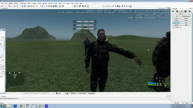 Move actors Bones in Crysis